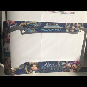 Disney cruise license plate frame. Brand new
